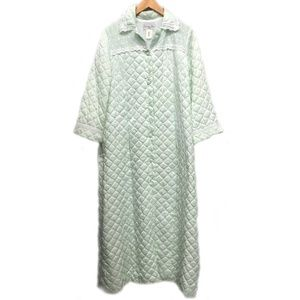 Christian Dior Vintage Quilted Long Robe Housecoat